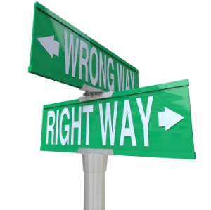Right vs Wrong Way - Two-Way Street Sign